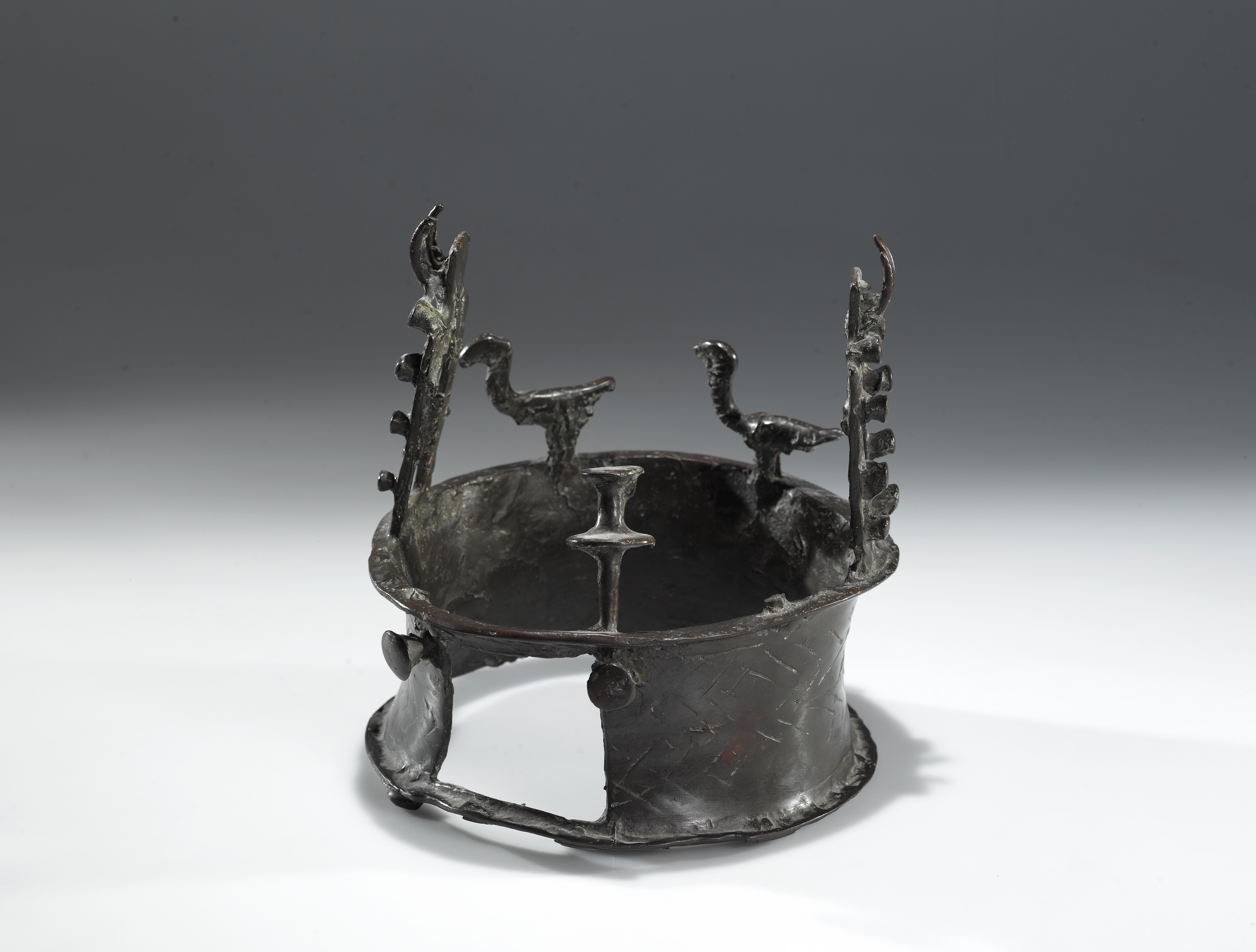 Copper crown with Building-Façade Decoration and Vultures, 4500–3600 BCE