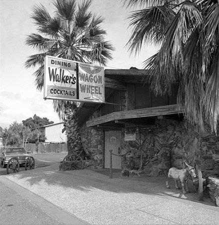 Exterior of Walker's Wagon Wheel tavern.