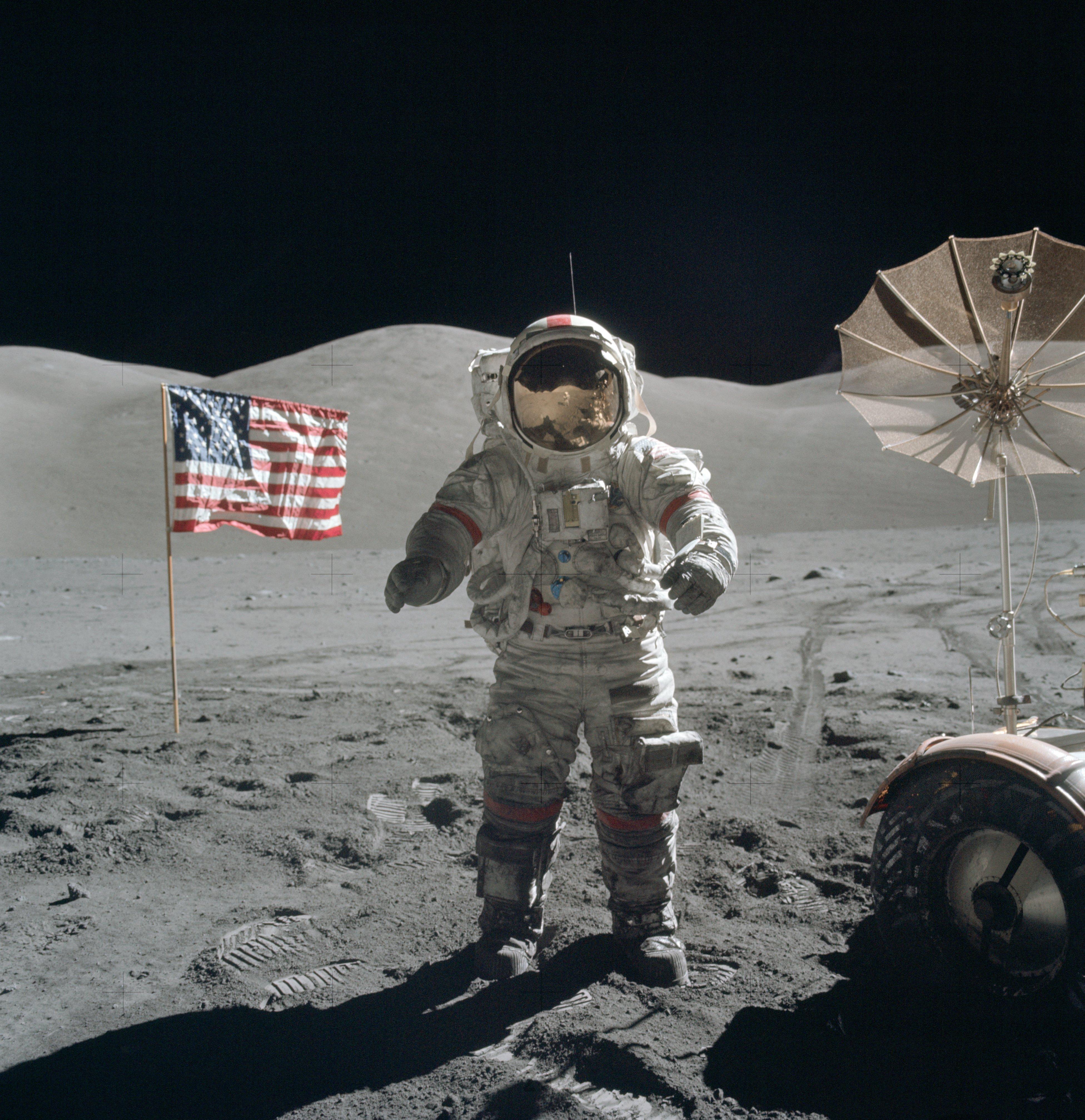 Image of Eugene Cernan on lunar surface, December 13, 1972