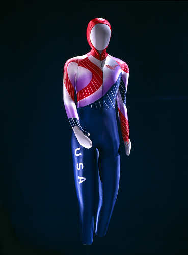 Bonnie Blair's speed skin from the 1992 Winter Olympics in Albertville, France.