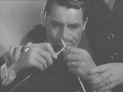 Cary Grant trying to knit in the movie Mr. Lucky.