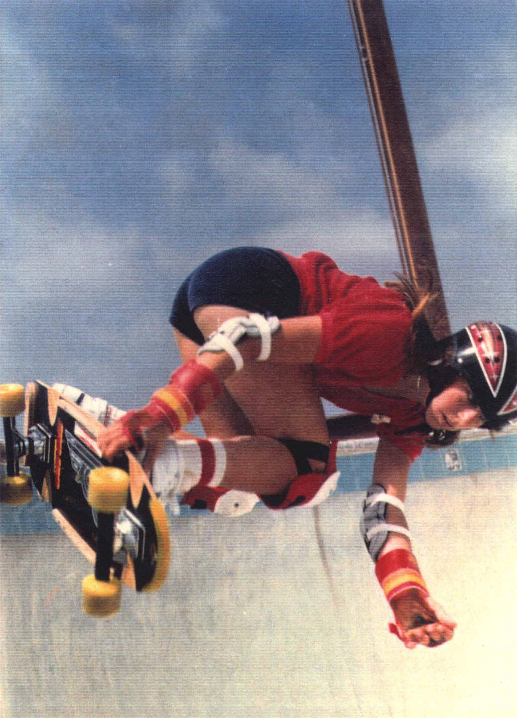 Cindy Whitehead skateboarding in the 70s.