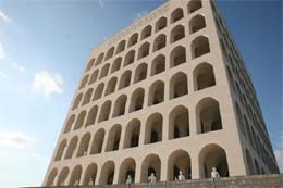 "The ""Square Colosseum"" in EUR."