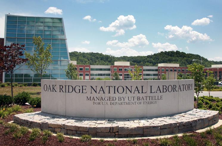 The entrance to Oak Ridge National Laboratory.