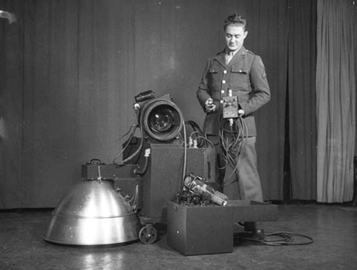 Edgerton's night aerial photography system.