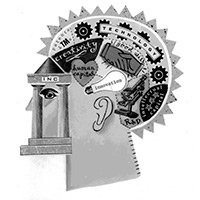 Image of MIND database logo black and white