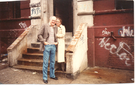Manny and Elizabeth Villafaña at his childhood home (undated).