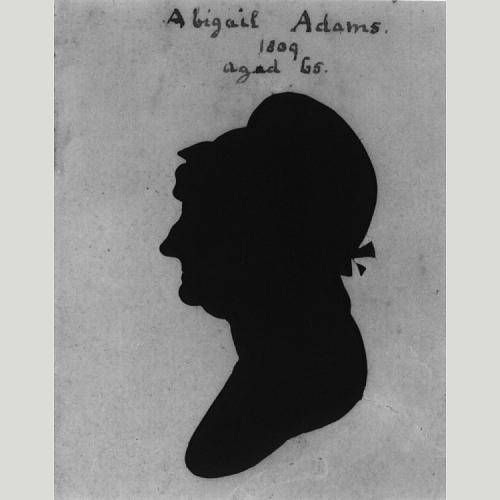 Abigail Adams, silhouette by Raphaelle Peale, 1804