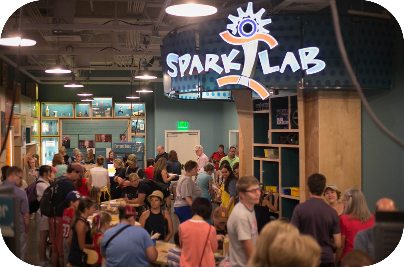 Spark!Lab full of visitors on opening day