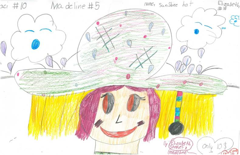 A drawing of The Sunshine Hat.
