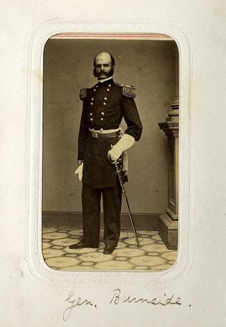 Photo of Ambrose Burnsides, for whom the sideburn was named.
