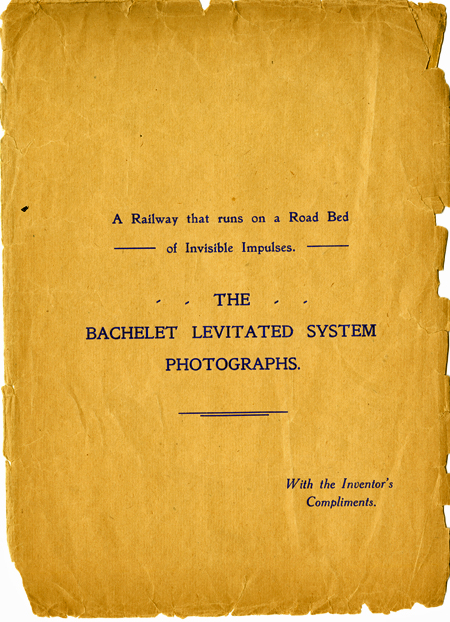 Cover of The Bachelet Levitated System booklet