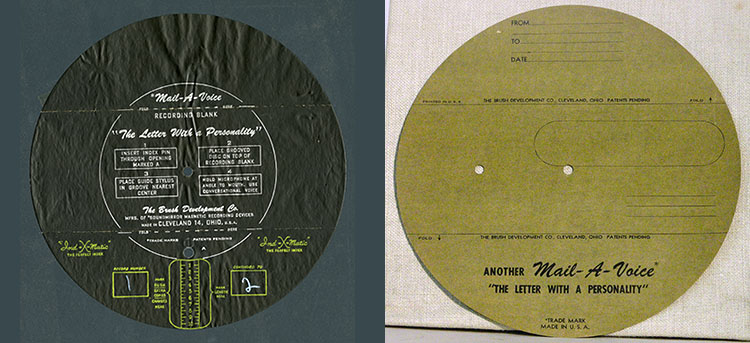 Composite image of front and back of recording disk.