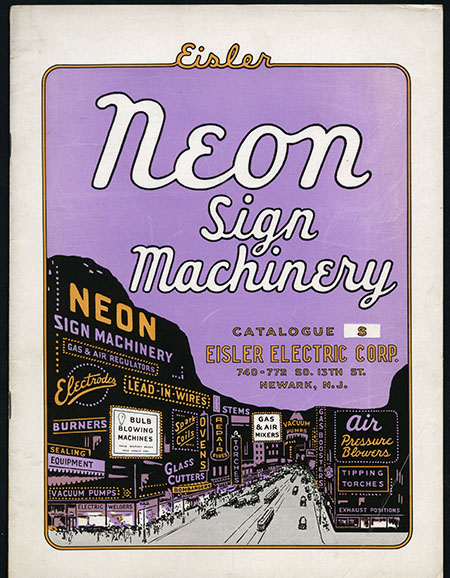 Cover of neon sigh machinery catalog