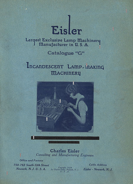 Cover of incandescent lamp-making machinery catalog