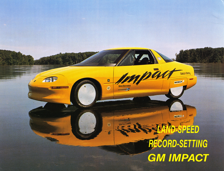 General Motors Impact electric car fact sheet, 1994, front
