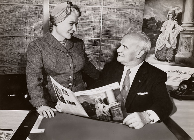 Ida and William Rosenthal posed at a desk