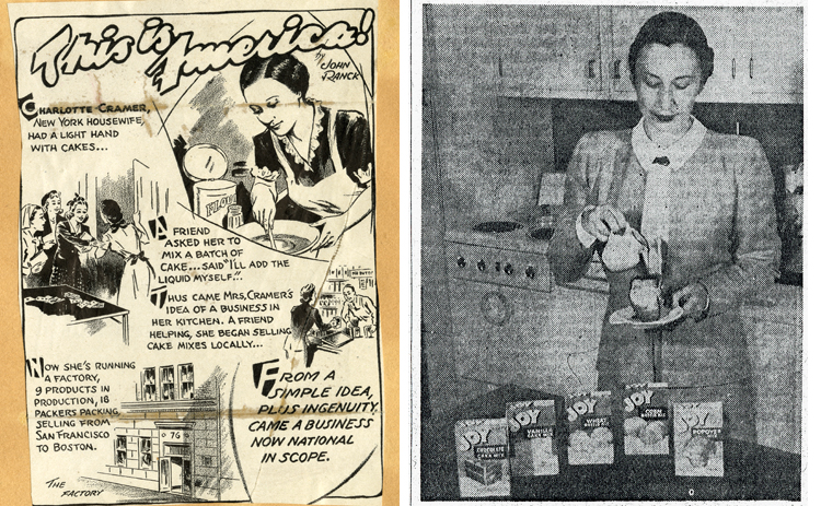 Composite image: cartoon-like illustration of Sach's work (left) and newspaper photo of Sachs (right)