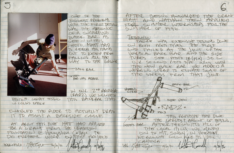 Nate Connolly's invention notebook
