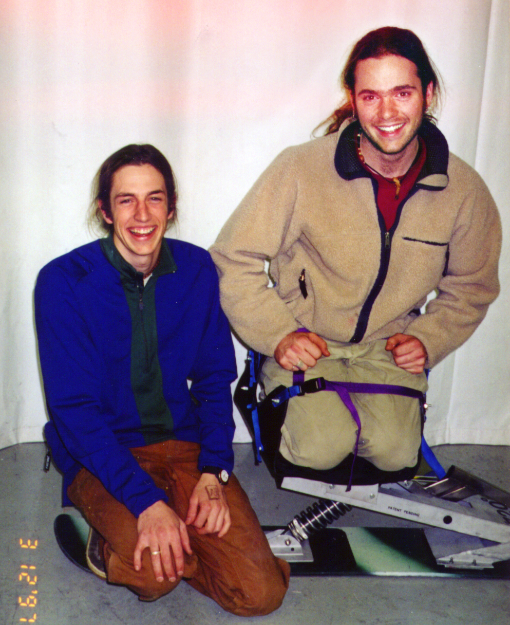 Image of Matt Capozzi and Nathan Connelly, Accessible Snowboard inventors