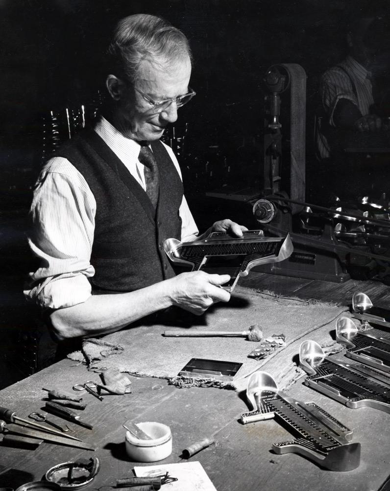 Image of Charles Brannock in his workshop