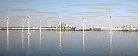 Wind farm at Caofeidian International Eco-City,