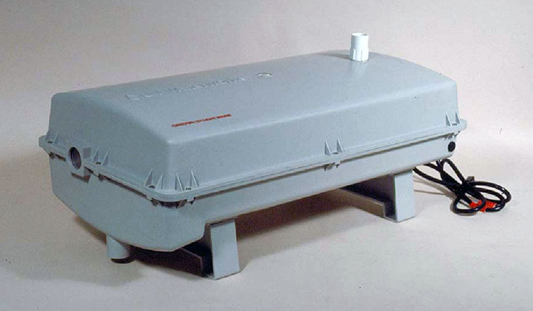Gray rectangular device, fully covered
