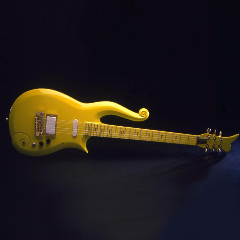 Image of Prince's Yellow Cloud Guitar, 1989