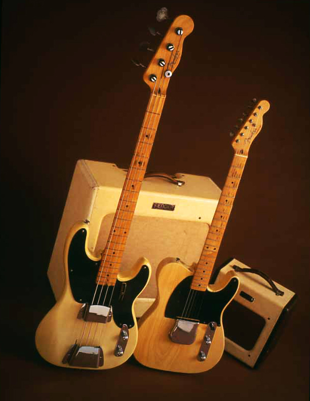 Photo of Fender bass guitar and amp