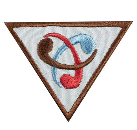 Triangular Brownie Inventor Badge
