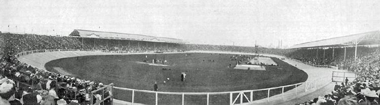 Panoramic view of the field at White City Stadium