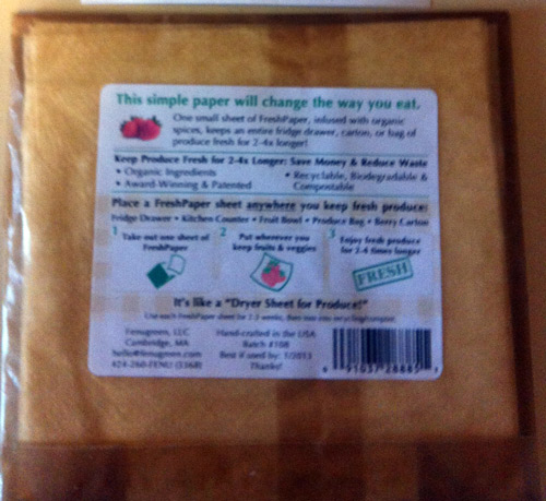 Image of package of Fresh Paper