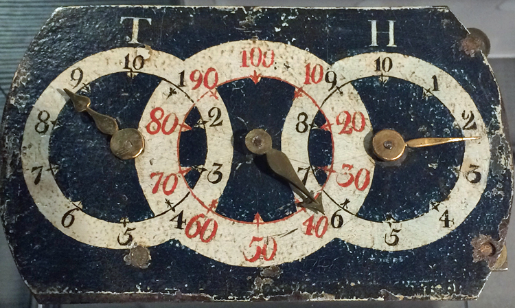 An odometer, possibly designed by Franklin, about 1763