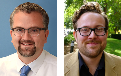 Individual head shots of Andrew Russell (left) and Lee Vinsel (right)