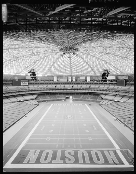 Panoramic view of the interior of the Astrodome stadium