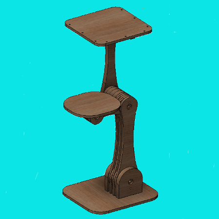 CAD rendering of desk design