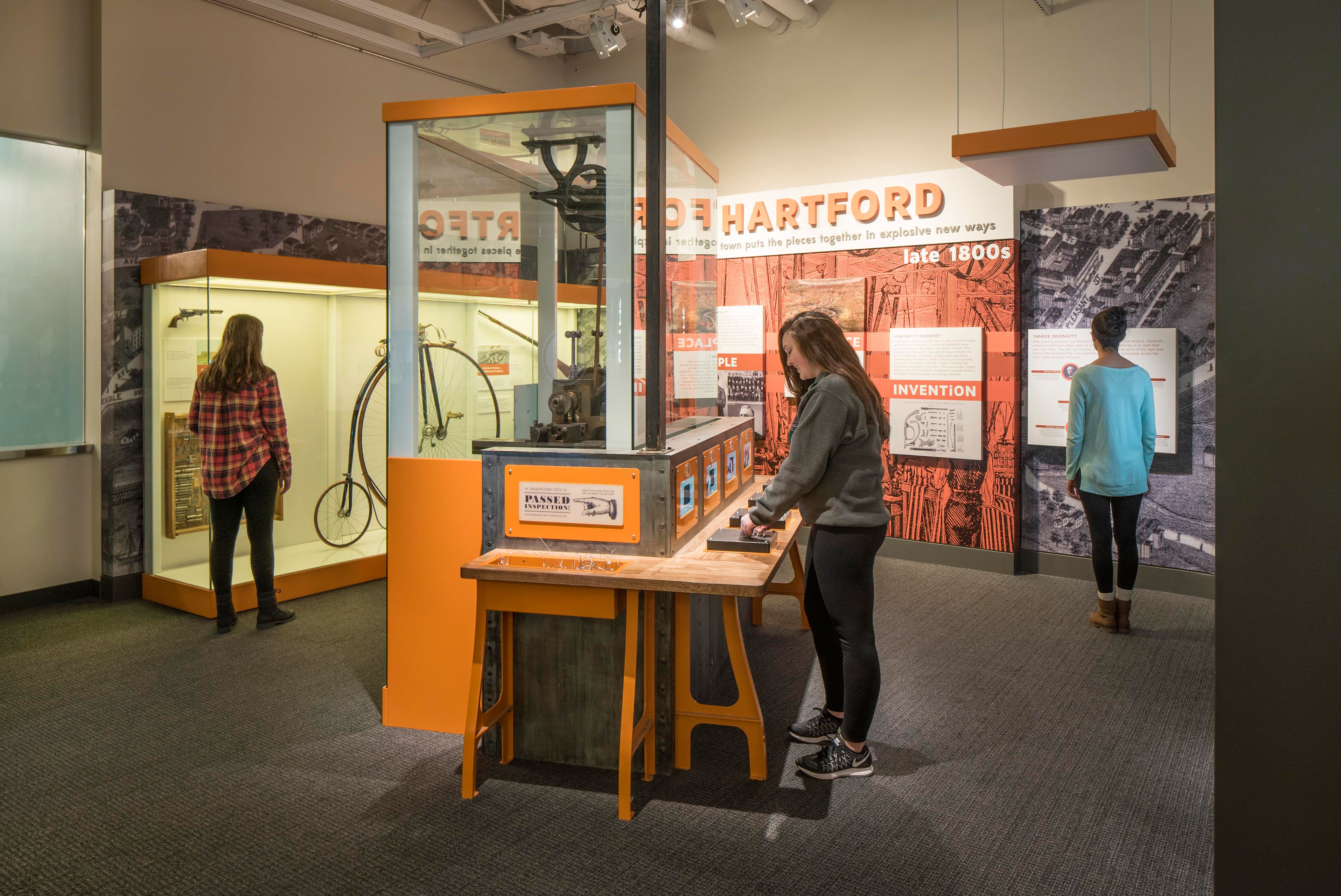 Places of Invention exhibition's Hartford, Connecticut, late 1800s case study area