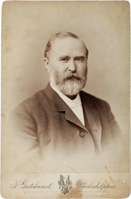Undated cabinet card photograph of John B. Stetson