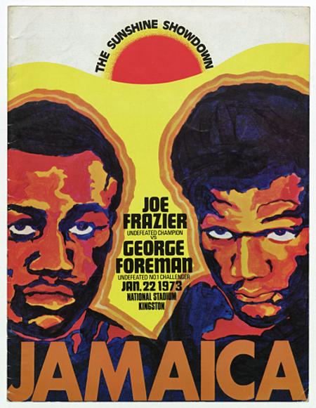 Program for The Sunshine Showdown boxing match between Joe Frazier and George Foreman, Kingston, Jamaica, January 22, 1973