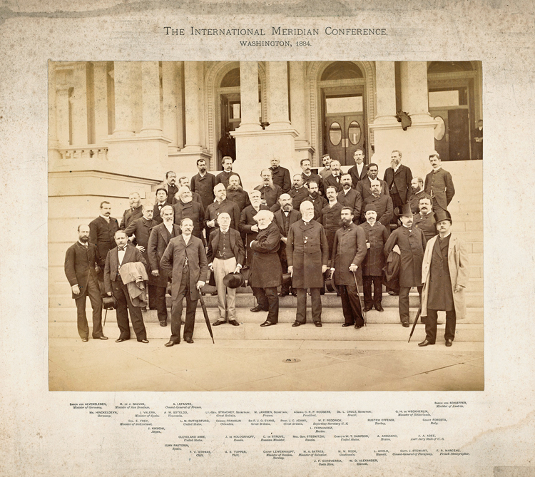 Group photo of 1884 International Meridian Conference, 1884