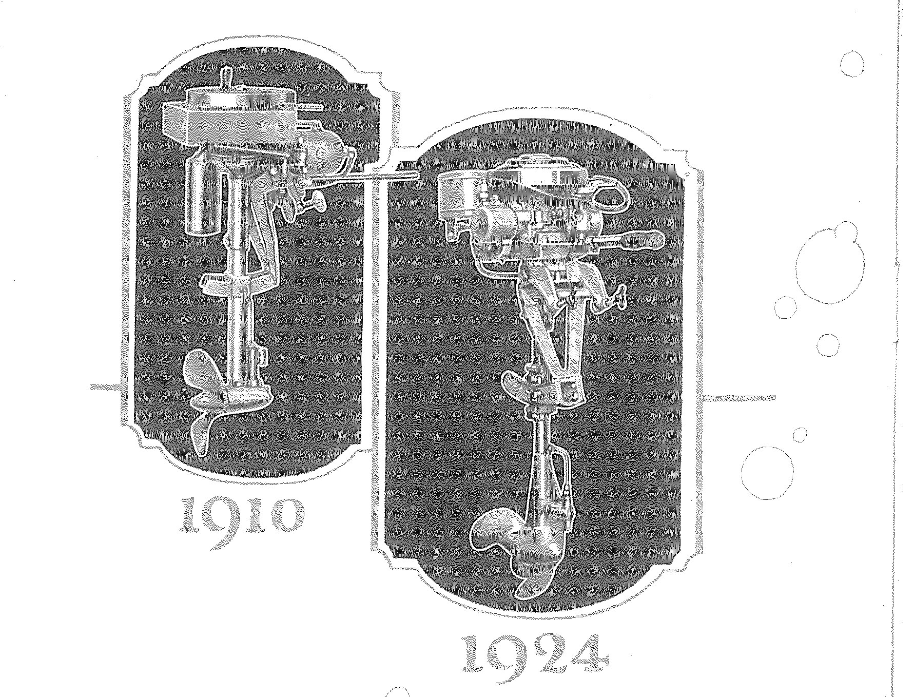 Evinrude's 1910 and 1924 motors.