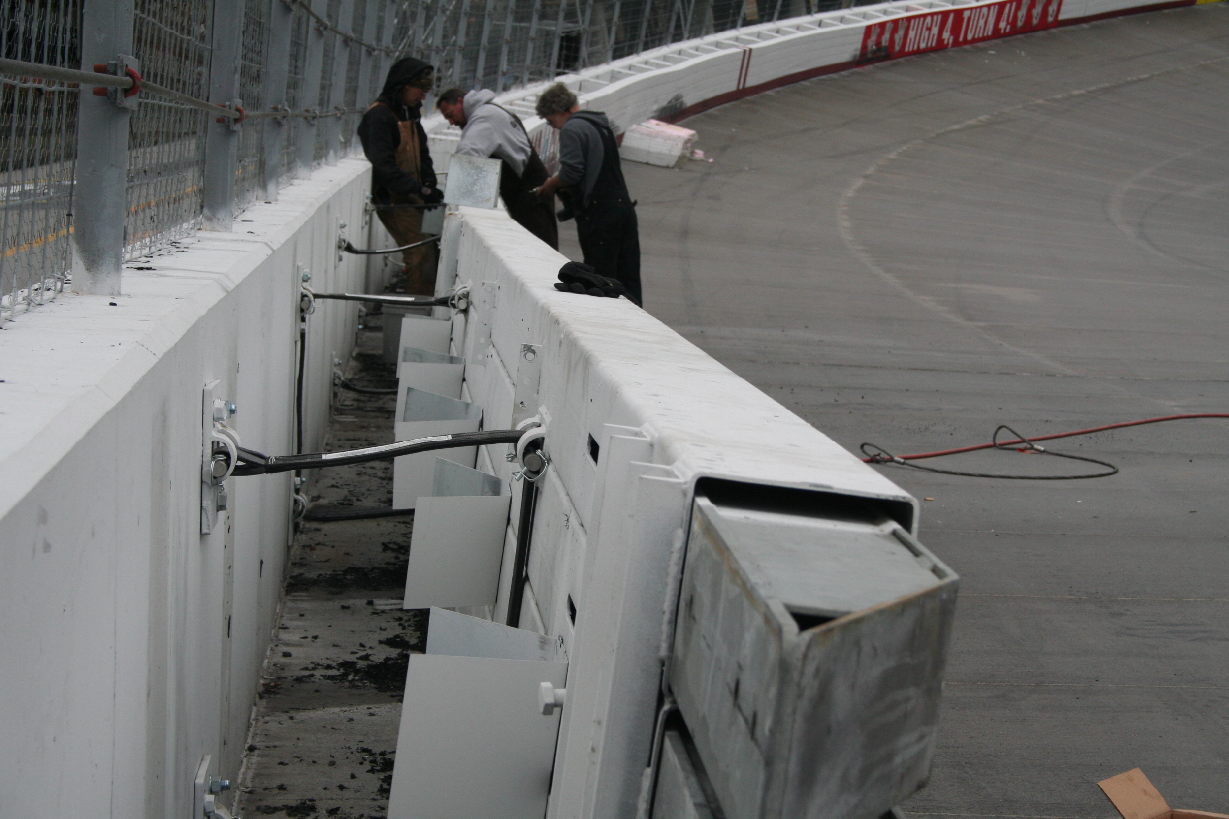 Instillation of the SAFER barrier at the Bristol Motor Speedway and Dragway in 2010.