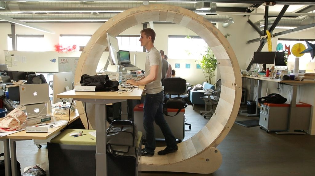 The Hamster Wheel Standing Desk