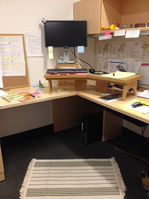 The author's standing desk.