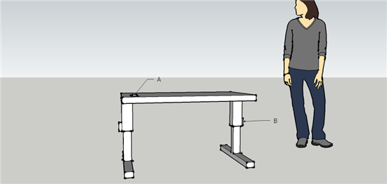 A computer generated scale model of a student invention.