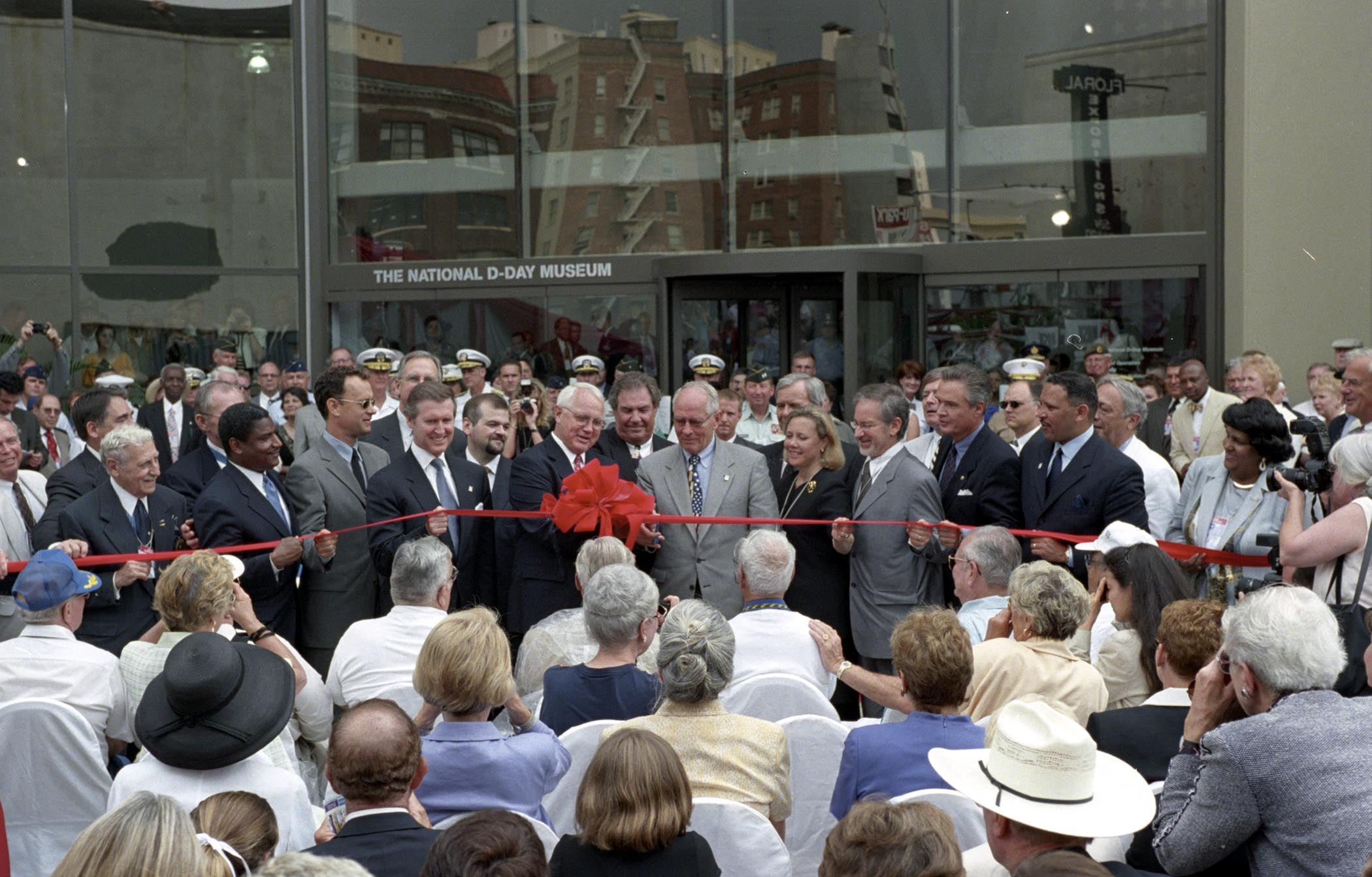 The grand opening of the National WWII Museum