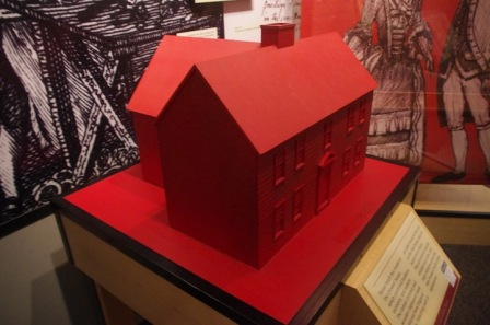 3-D tactile model of a house on exhibit at the National Museum of American History