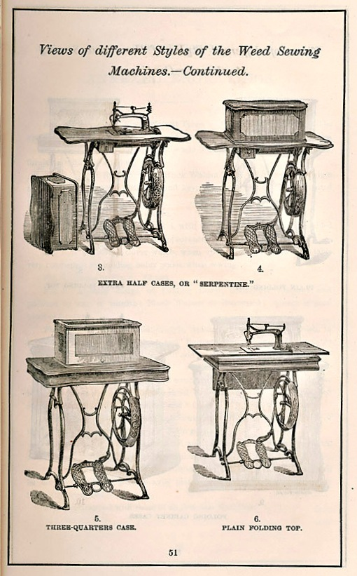 """Weed Sewing Machine Company, """"Circular and Price List,"""" 1873"""