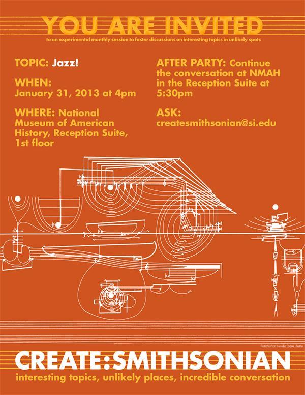 Poster advertising Create:Smithsonian workshop