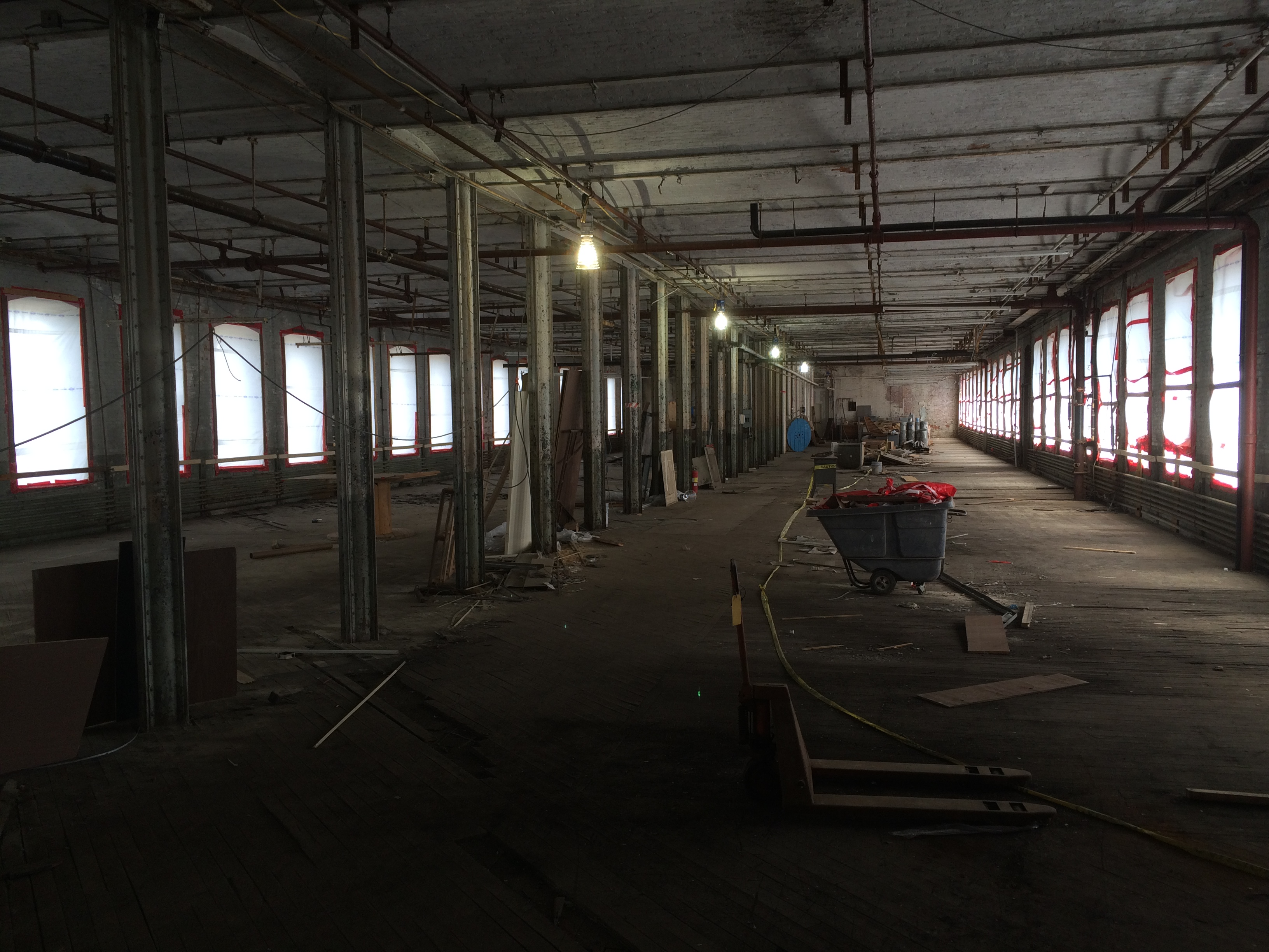 Inside Colt's East Armory, 2015.  Photo by Eric Hintz.
